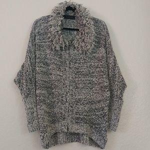 Cuteness Shimmery Chunky Cardigan Sweater